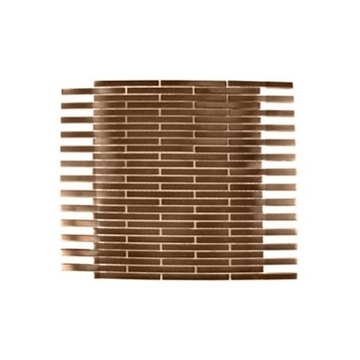Brush metal copper 3 8x4 brick metal tile by soho studio for 8x4 bathroom designs