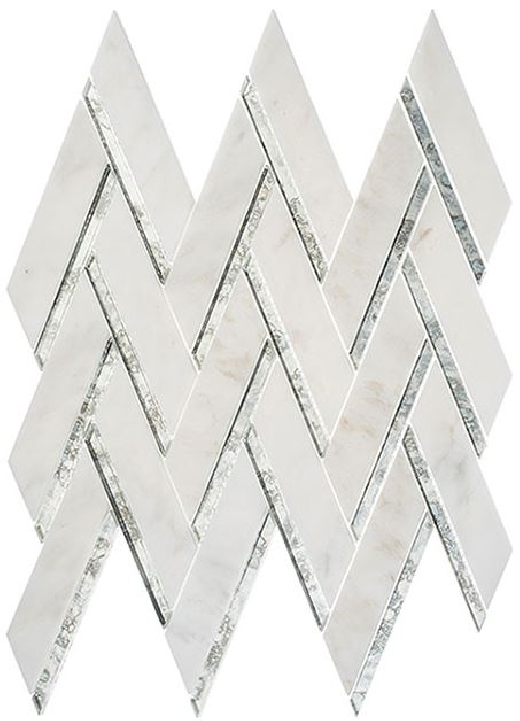 Shop Peak Harbor Ornate Crest Ph481 Mirror Herringbone