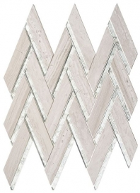 Peak Harbor Series Kings Summit PH482 Mirror Herringbone Mosaic Tile