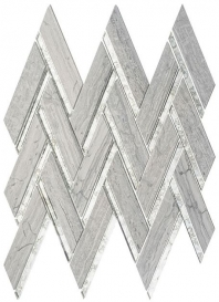 Peak Harbor Series Tenton Scape PH483 Mirror Herringbone Mosaic Tile