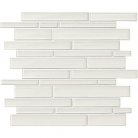 Daltile AM50- Amity White Random Linear Interlocking Mosaic