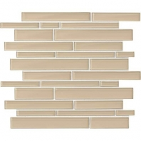 Daltile AM52- Amity Beige Random Linear Interlocking Mosaic