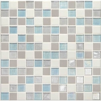 Daltile CK92- Coastal Keystones Mediterranean Mist 1x1 Mosaic