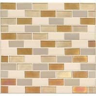 Daltile CK91- Coastal Keystones Island Harvest 2x1 Brick Joint Mosaic