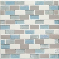 Daltile CK92- Coastal Keystones Mediterranean Mist 2x1 Brick Joint Mosaic