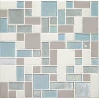 Daltile CK92- Coastal Keystones Mediterranean Mist Block Random Mosaic