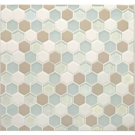 Daltile CK86- Coastal Keystones Trade Wind Hexagon Mosaic
