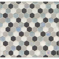 Daltile CK88- Coastal Keystones Tropical Thunder Hexagon Mosaic