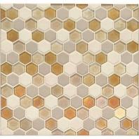 Daltile CK91- Coastal Keystones Island Harvest Hexagon Mosaic
