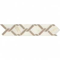 Daltile FA04- Fashion Accents Twisted Rope White Border
