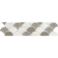 Daltile FA11- Fashion Accents Scalloped White Border