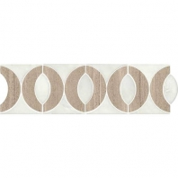 Daltile FA13- Fashion Accents Almond Eye White Border