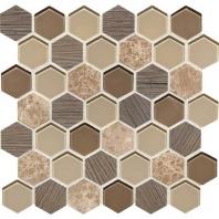 Daltile IB02- Idyllic Blends Sylvan Sunset Hexagon Mosaic Tile