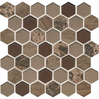 Daltile IB03- Idyllic Blends Rustic Eve Hexagon Mosaic Tile
