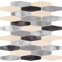 Daltile IM04- Infinite Mirage Timeless Illusion Hexagon Mosaic Tile