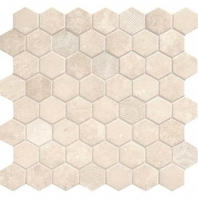 Daltile VH05- Vintage Hex Antique Beige Hexagon Mosaic