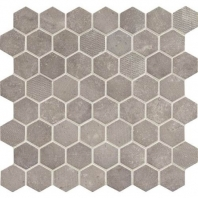 Daltile VH07- Vintage Hex Artifact Gray Hexagon Mosaic