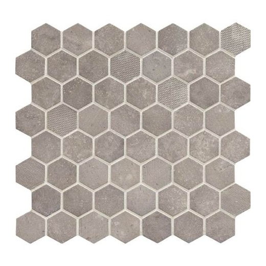 tile a bathroom shower daltile vh07 vintage hex artifact gray hexagon mosaic 20796