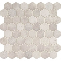 Daltile VH06- Vintage Hex White Hexagon Mosaic