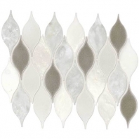 Daltile DA29- Lumia Leaf White Polished Mosaic