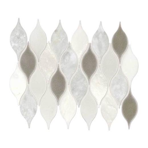 Daltile Da29 Lumia Leaf White Polished Mosaic Home Decor Az