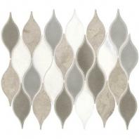 Daltile DA31- Lumia Leaf Gray Polished Mosaic
