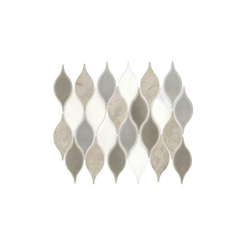 Daltile Da31 Lumia Leaf Gray Polished Mosaic Home Decor Az