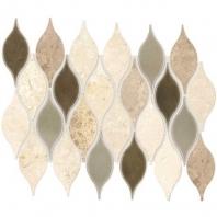 Daltile DA30- Lumia Leaf Beige Polished Mosaic