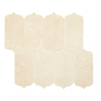 Daltile M047- Latte 11x13 Ingot Arabesque Mosaic