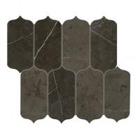 Daltile M049- Antico Scuro 11x13 Ingot Arabesque Mosaic