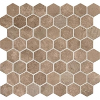 Daltile VH09- Vintage Hex Umber Hexagon Mosaic