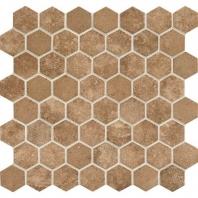 Daltile VH08- Vintage Hex Legacy Sepia Hexagon Mosaic