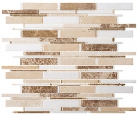 Tile Cascade Crema Marfil Thassos White Emperador Light