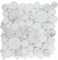 Tile Bubble Full Sheet White Dove BFS-101