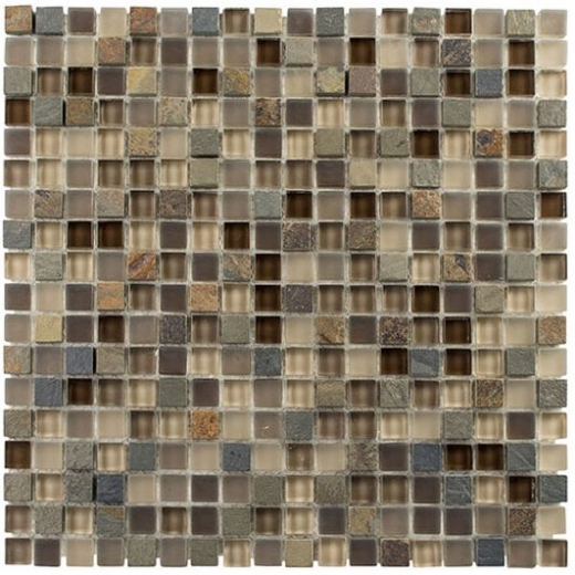 Glazzio Glass & Slate Series Rustic Taupe GS01