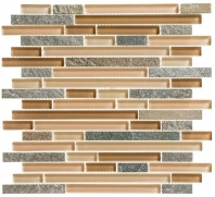 Tile Glass & Slate Chestnut Screen GS18