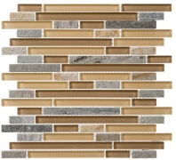 Tile Glass & Slate Contemporary Mocha GS20