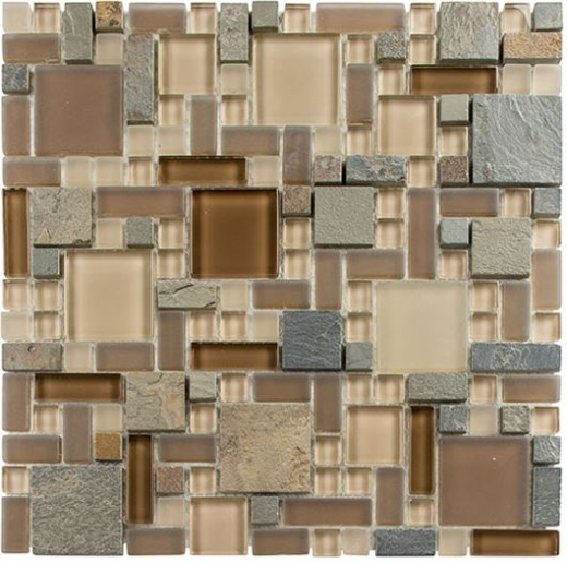 Buy Glass Tile Glass & Slate Winter Scape GS25