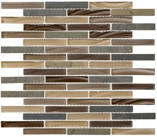 Glazzio Glass & Slate Series Rustic Taupe GS31