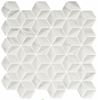 Antiquities Series Pompeii Haze ANQ51 Marble Look Hexagon Mosaic