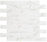 Antiquities Series Cloud Nine ANQ55 Marble Look Brick Mosaic