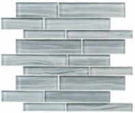 Mist Series Pistachio Glow MSTS4282 Interlocking Glass Mosaic