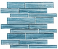 Mist Series Nautical Spray MSTS4283 Interlocking Glass Mosaic