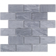 Soho Studio Burlington Gray 2x4 Beveled Interlocking Tile- 2X4BEVBURLGRY