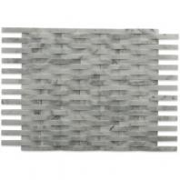 Soho Studio 3D Weave White Carrera Basketweave Tile- 3DWEVWTCR