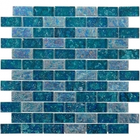 Soho Studio Aqueous Laguna 1x2 Brick Interlocking Tile- AQUEBRKLGUNA1X2