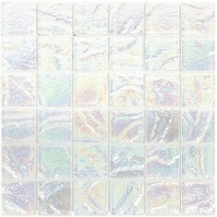 Soho Studio Aqueous Iridescent White 2x2 Square Interlocking Tile- AQUESQIRIWHT2X2