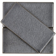 Soho Studio Baroque Gun Metal 3x6 Subway Tile- BRQ3X6GNMTL