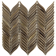 Soho Studio Baroque Petals Copper Chevron Tile- BRQPETLCPPR