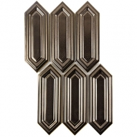Soho Studio Baroque Sequin Copper Elongated Hexagon Hexagon Tile- BRQSEQNCPPR